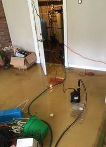 Pipe Break/Flood/Drying Bedroom Floors/Basement Apartment in Waterbury, CT (1)