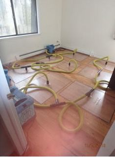Pipe Break/Flood/ Water Damage/ Drying in Progress in Simsbury, CT (1)