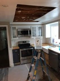 Pipe Break/Flood/Damage Ceiling Removed/Ready for Repairs/ Mold Testing in Groton, CT (1)