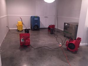 Water Damage Cleanup from Flooded Basement after Pipes Burst in Branford CT (2)