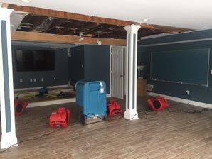 Water Damage Cleanup from Flooded Basement after Pipes Burst in Branford CT (3)