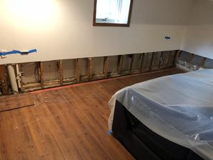 Mold Removal & Water Damage Restoration after Burst Pipes caused Basement Flood in Trumbull, CT (2)