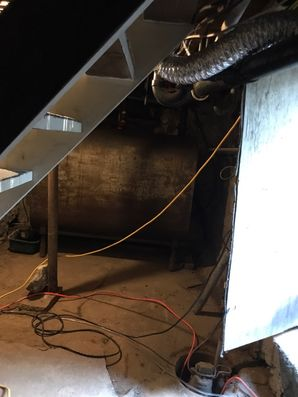 Crawl Space Cleaning, Air Duct Cleaning & Mold Removal after Water Damage from Basement Flood in Westport CT (2)