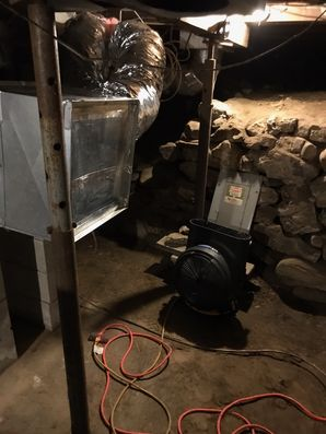 Crawl Space Cleaning, Air Duct Cleaning & Mold Removal after Water Damage from Basement Flood in Westport CT (1)