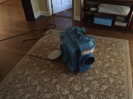 Smoke Damage Restoration ( Negative air scrubber machine )
