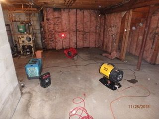 Pipe Break/Flood/ Water Damage/ Mold/Drying in Progress in Darien, CT (2)